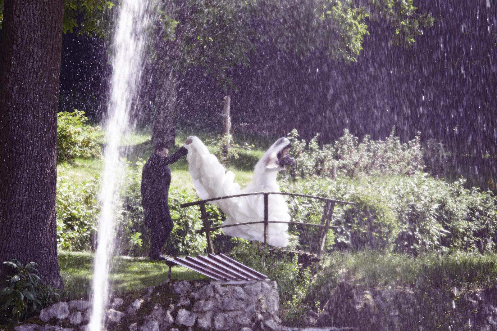 Hochzeits-Shooting am Waldesrand
