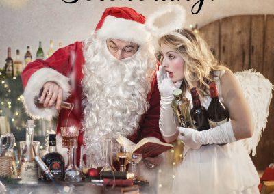 Weihnachts-Werbefotos für Cocktailbar