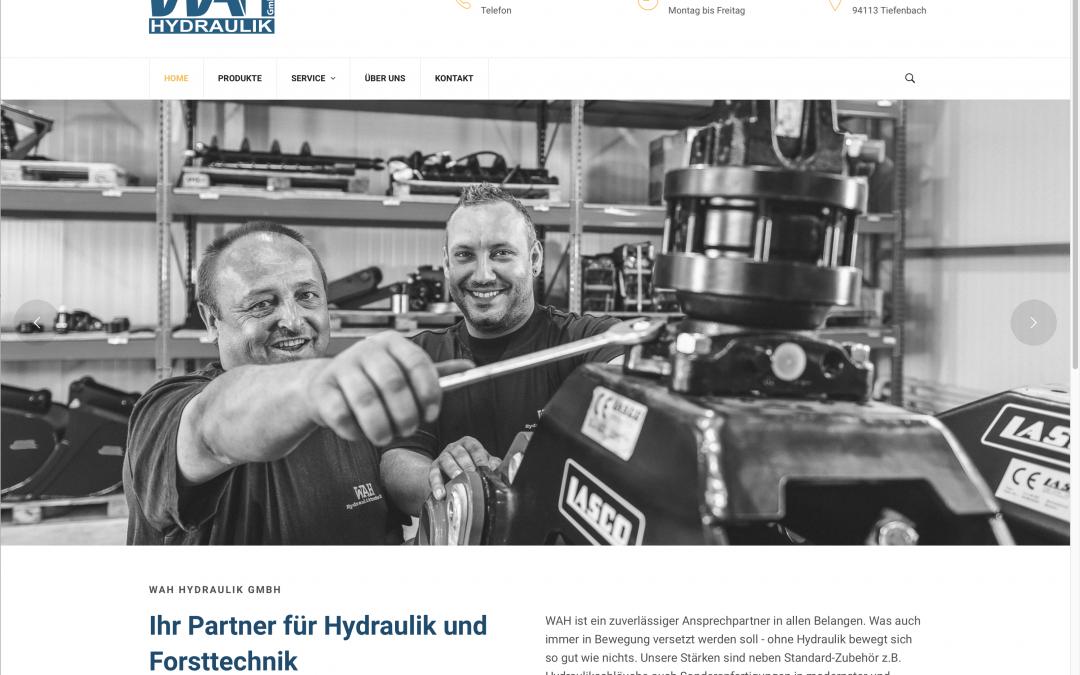 Neue Website für WAH-Hydraulik in Tiefenbach